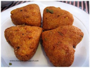 Golden Hearts (potato and mix veg. cutlets)