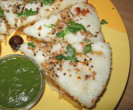 how to make dhokla sandwich