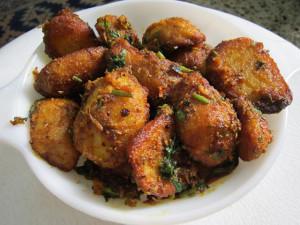 Ajwaini Masala Arbi ,Colocasia ,Taro Root fry