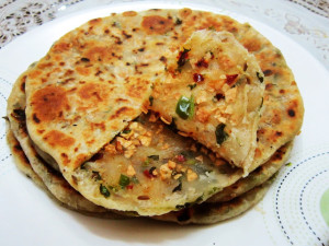 Papad Paratha  (spicy flatbread)