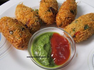 Sweet Corn and Rice Croquettes / Corn Cutlets