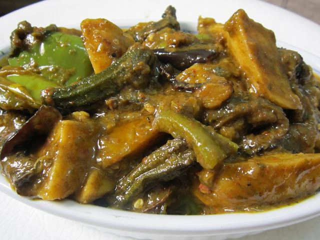 sambhariya subzi in mint sauce
