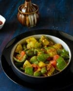 How To Make Shimla Mirch Aloo Ki Sabzi , Capsicum Potato Curry Recipe