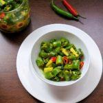 Green Chili Pickle In Lemon Juice