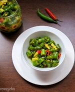 Instant Green Chili Pickle in Lemon Juice / Nimbu Hari Mirch ka Achar
