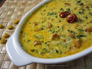 Methi Vadi nu Shaak ,Fenugreek curry in yoghurt sauce