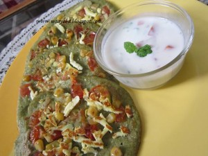 Moong daal cheela /Bean Sprout Pancakes