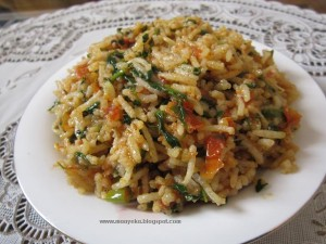 Tomato and Methi Pulav ,Tomato rice
