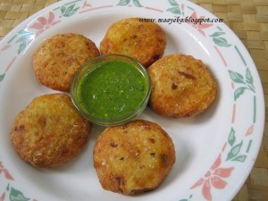 Falahari Aloo patties,Coconut and Potato Patties