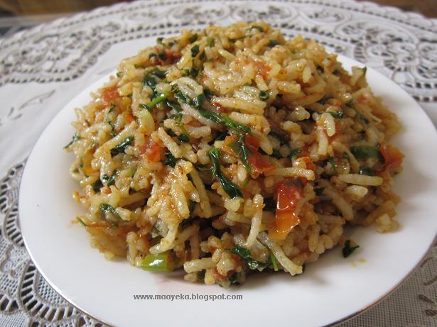 tomato methi rice recipe