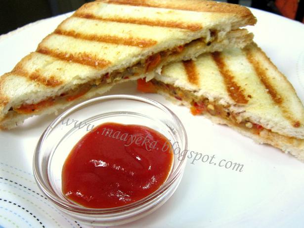 eggplant panini sandwich