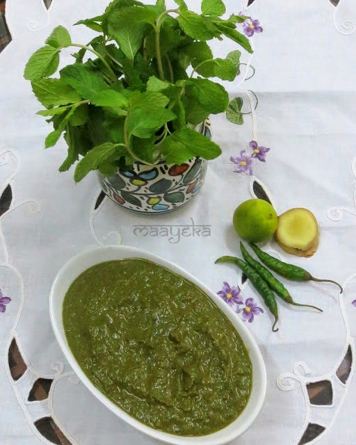 green fruity chutney
