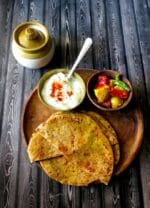 Stuffed Moong Daal Paratha Recipe, How To make Moong Daal Paratha