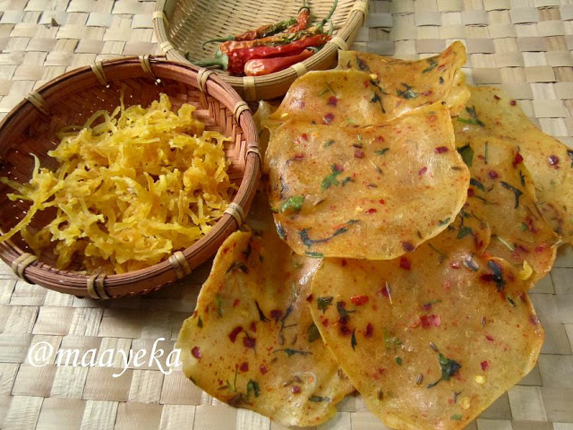 home made aloo papad and aloo sev