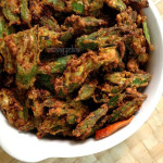 Bhindi Kurkuri Recipe , How To Make Kurkuri Bhindi ,Crispy Okra