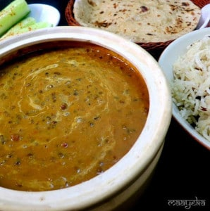 Daal Makhani and Jeera Rice