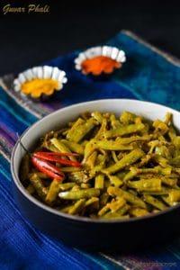Guvar Phali ki Subzi, Cluster Bean Stir Fry