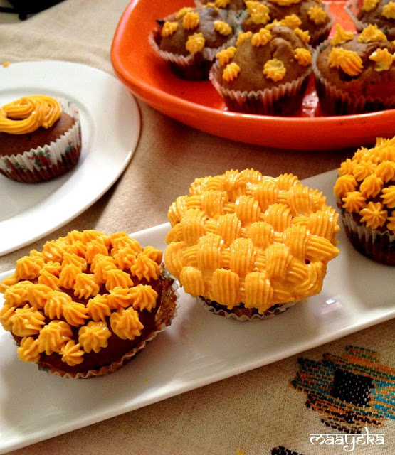 eggless orange cup cakes