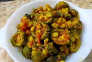 Daal Karela , Bitter Gourd cooked with bengal gram