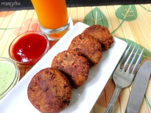 Rajma Galouti Kabab ,Kidney Bean Patties