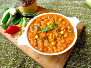 Corn Chili Masala / Corn Curry