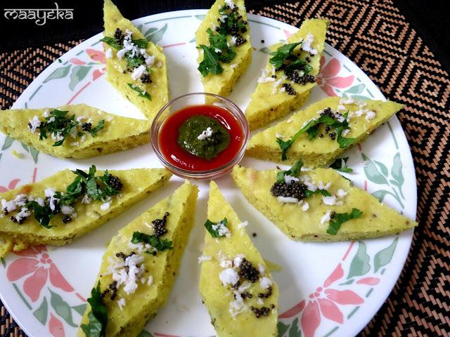 Gujarati khatta dhokla recipe