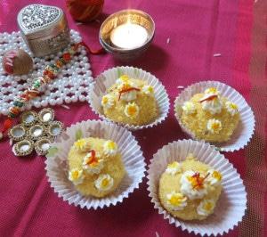 Saffron Delight / Paneer Coconut Ladoo