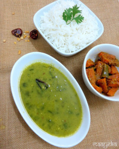 Daal Hariyali, Lentil with spinach