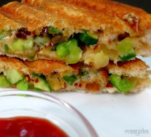 Pineapple Salsa Sandwich