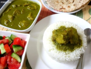 Sepu Vadi , Lentil Dumplings in Spinach Gravy
