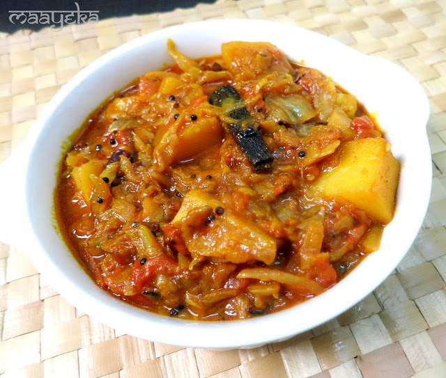 cabbage andf potato curry