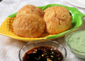Corn Kachori / Spicy Corn Puffs