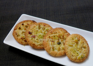 Lemon and Pista Biscuits