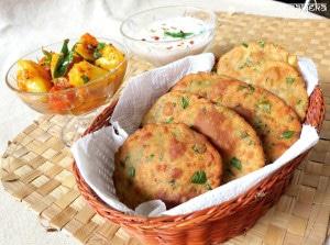 Methi Bajra Poori /Pearl Millet Bread