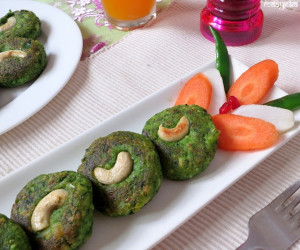 Hara Bhara Kabab (Spinach and Green Peas Patties)