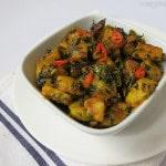 Aloo Methi Sabzi ,Methi Aloo Recipe, Potato and Fenugreek stir fry