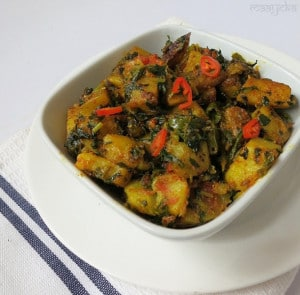 Aloo Methi Subzi  /Potato and Fenugreek stir fry
