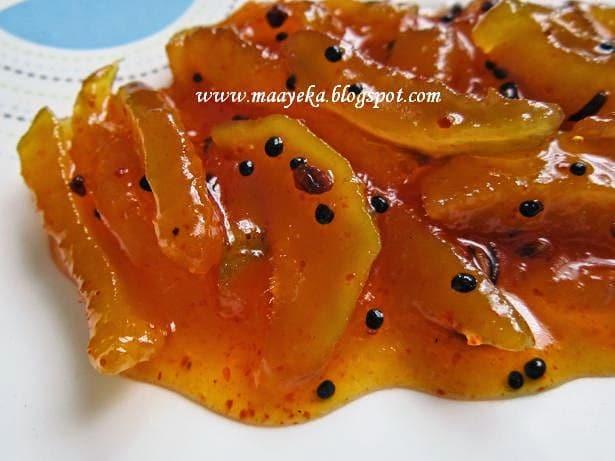Sweet and sour mango chutney