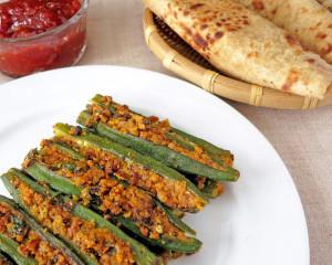 Bhindi Sambhariya /Stuffed Okra