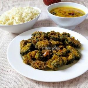 Karela kachri Subzi / Bitter Gourd Stir Fry