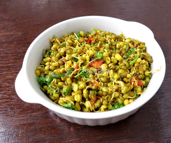 sprouted moong chat