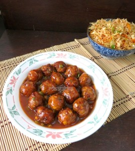 Veg Manchurian or Vegetable Manchurian