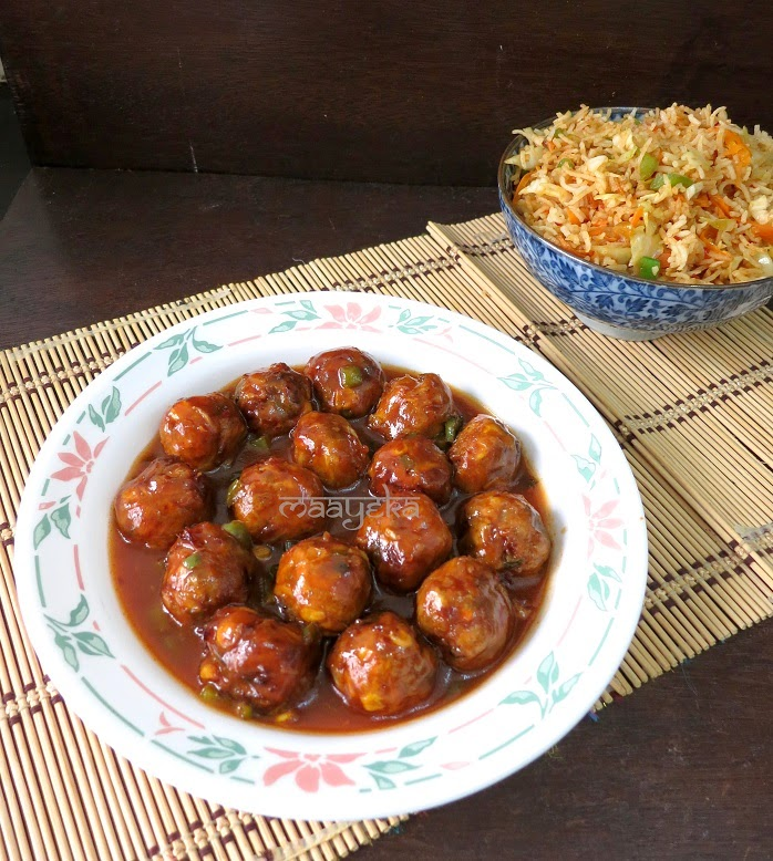chinese vegetable manchurian recipe