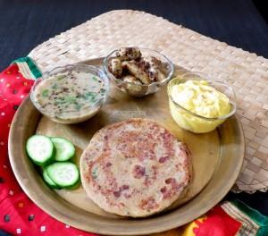 Rajgiri ka Paratha / Gluten Free Amaranth Flour Bread