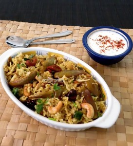 Vangi Bhath Recipe / Brinjal Rice