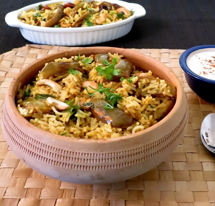 how to make south indian brinjal rice