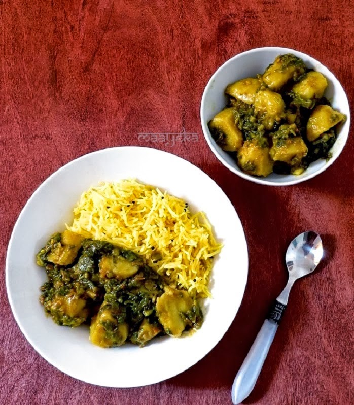 how to make aloo palak subzi