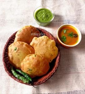 Pumpkin Masala Poori