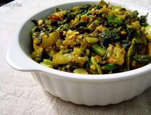 Mooli Ki Subzi, Bhujiya / Stir Fried Radish