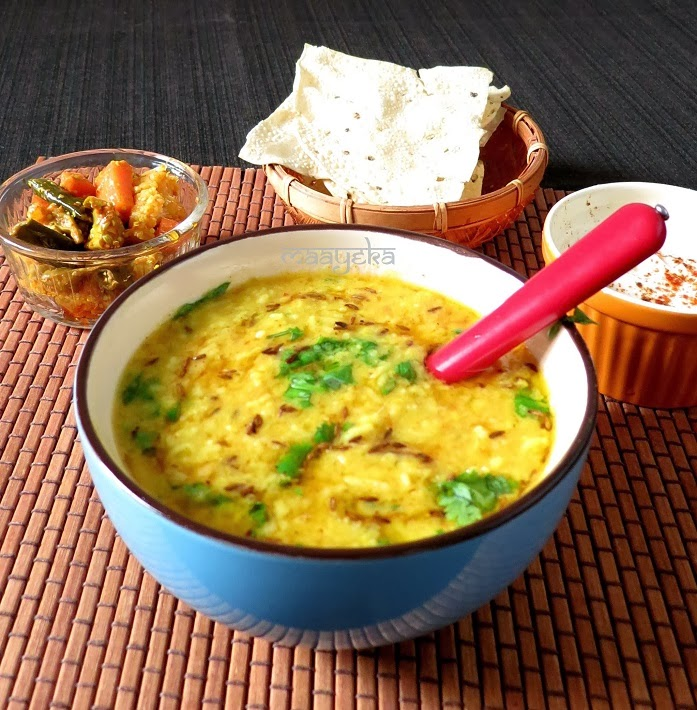 how to make daal khichdi,lentil porridge